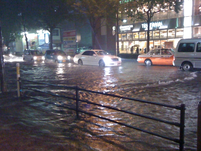道路の冠水