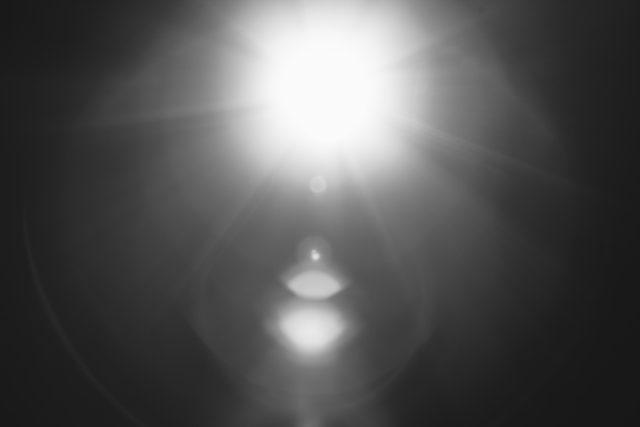ライトの光の例え