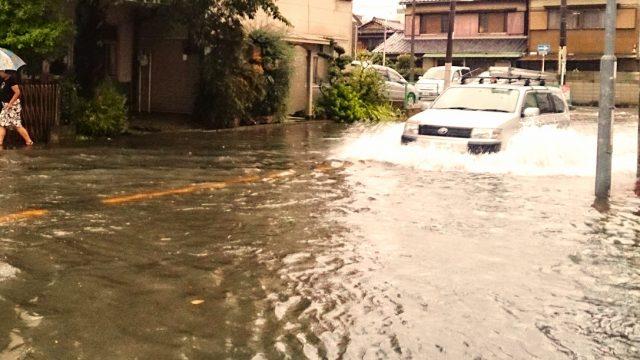 日本での洪水被害