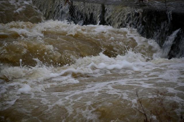 内部氾濫で冠水