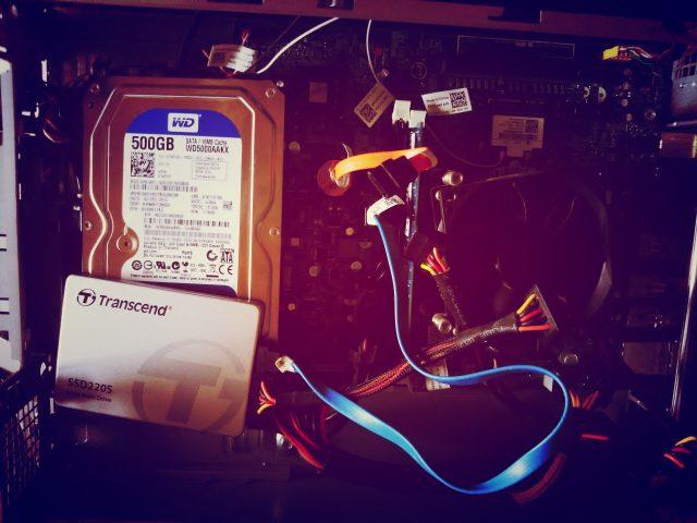 HDDからSSD換装