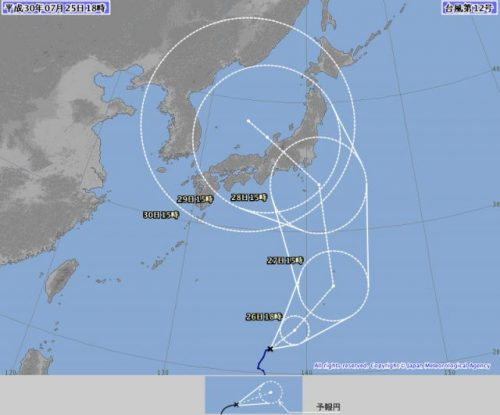 2018年台風12号