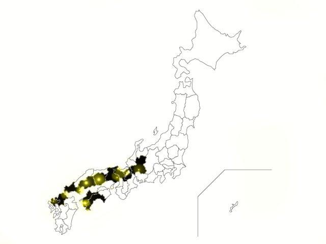 豪雨による死者被害マップ