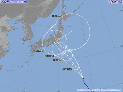 台風13号(サンサン)