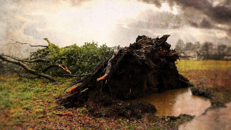 台風21号接近
