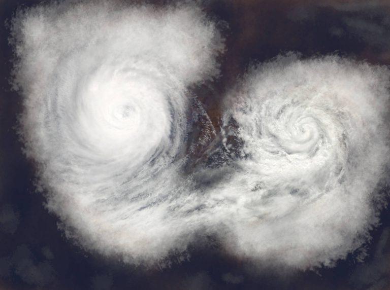 ダブル台風の20号(シマロン)のイメージ